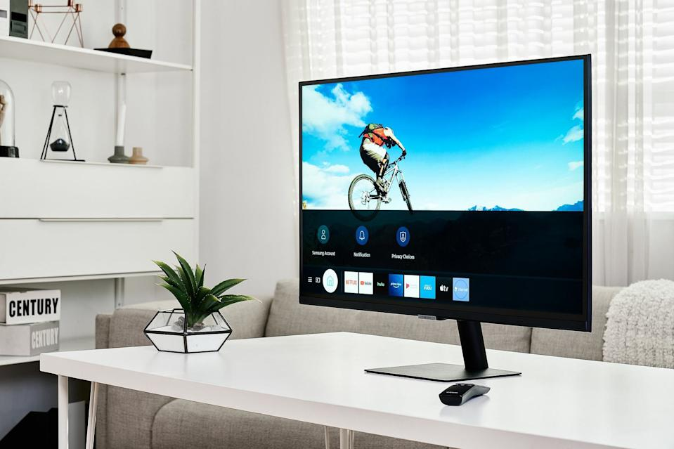 El Smart Monitor de Samsung cuenta con Microsoft 365 integrado y es compatible con AirPlay 2 de Apple y DeX de Samsung