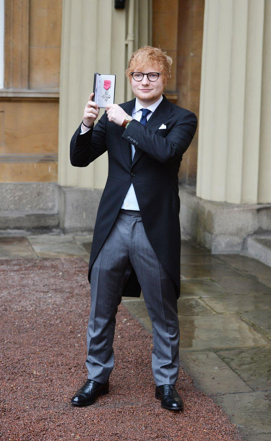 <p>Sheeran was appointed a Member of the Order of the British Empire (MBE) by Prince Charles for services to music and charity in 2017.</p>