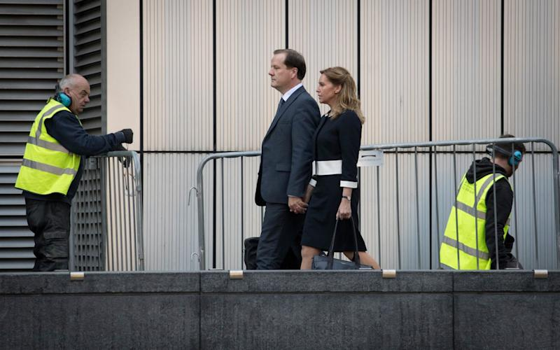Elphicke and his wife arrive at court during his trial - Stefan Rousseau/PA