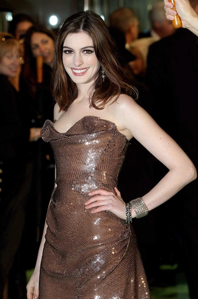 """<a href=""""http://movies.yahoo.com/movie/contributor/1804705919"""">Anne Hathaway</a> at the London premiere of <a href=""""http://movies.yahoo.com/movie/1810078365/info"""">Alice in Wonderland</a> - 02/25/2010"""