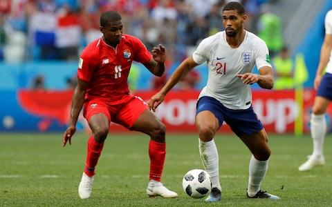 England's Ruben Loftus-Cheek, right, and Panama's Armando Cooper challenge  - Credit: AP Photo/Alastair Grant