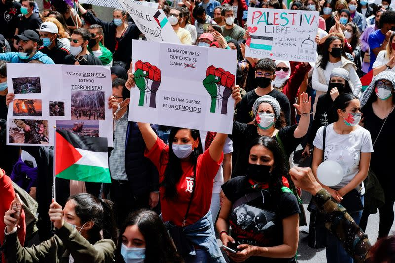 Protest in support of Palestine, in Madrid