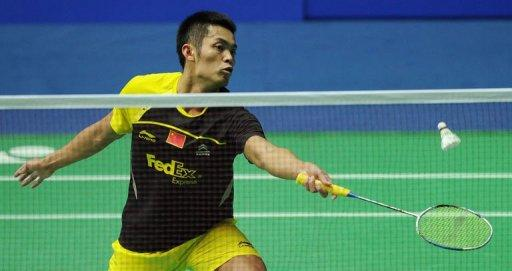 Lin Dan of China hits a return to Wong Wing Ki of Hong Kong in their men's singles second round match at the China Open badminton tournament in Shanghai. Lin Dan delighted home fans as he made it back-to-back victories against arch-rival and number one seed Lee Chong Wei of Malaysia to reach the men's singles final at the China Open on Saturday