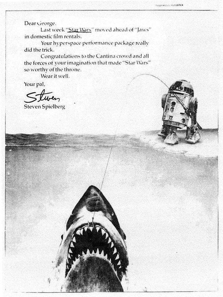 Spielberg's 1978 Variety tribute to 'Star Wars' (credit: Variety/The Academy of Motion Picture Arts & Sciences)