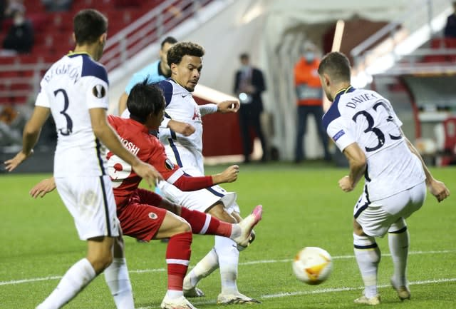 Royal Antwerp had chances to score more against Tottenham