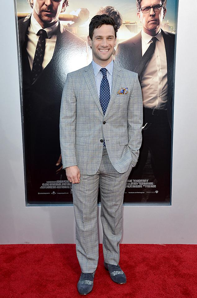 "WESTWOOD, CA - MAY 20:  Actor Justin Bartha attends the premiere of Warner Bros. Pictures' ""Hangover Part 3"" at Westwood Village Theater on May 20, 2013 in Westwood, California.  (Photo by Frazer Harrison/Getty Images)"