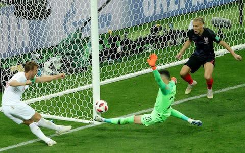 <span>Harry Kane missed a huge chance in the World Cup semi-final last summer</span> <span>Credit: Getty images </span>