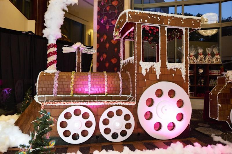 The epic gingerbread train weighs more than 1600kg. Photo: Shangri-La Sydney