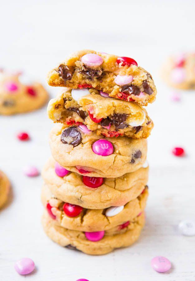 "<p>Your favorite cookies just got heart-ified.</p><p>Get the recipe from <a href=""http://www.averiecooks.com/2014/01/soft-mm-chocolate-chip-cookies.html"" rel=""nofollow noopener"" target=""_blank"" data-ylk=""slk:Averie Cooks"" class=""link rapid-noclick-resp"">Averie Cooks</a>.</p>"