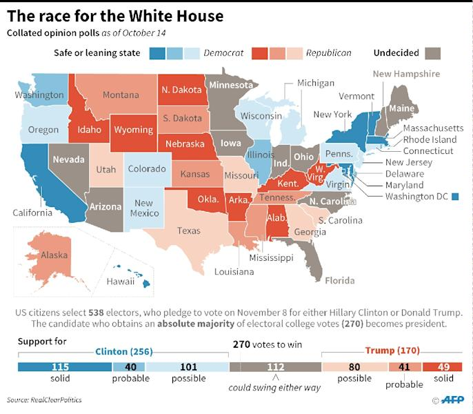 The race for the White House (AFP Photo/Paz Pizarro)