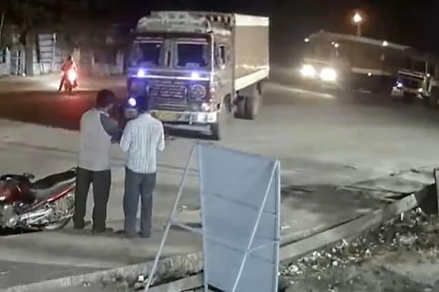 Christmas miracle! Two men escape death in out of control lorry crash