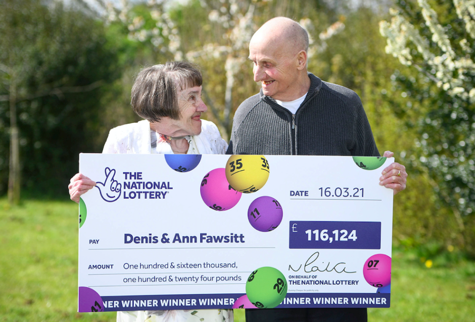 Denis and Ann Fawsitt are also planning on giving some of their winnings to their family. (SWNS)