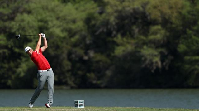 In his match with Bill Haas at the WGC Dell Technologies Match Play, Jon Rahm hit a monster 426-yard drive on the par-5 12th hole.