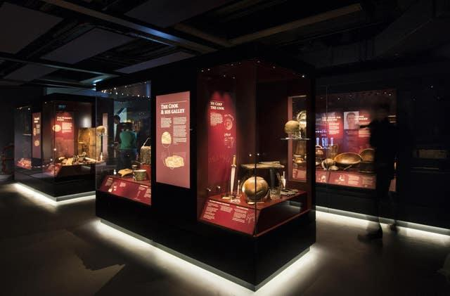 Many of the artefacts from the Mary Rose are on display at the Mary Rose Museum in Portsmouth