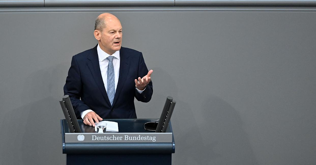 German Finance Minister and Vice-Chancellor Olaf Scholz
