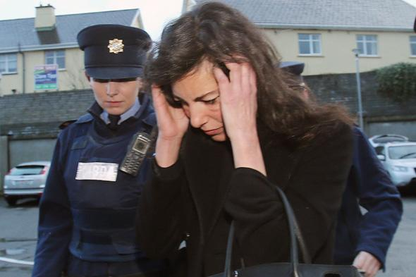 Niece of fashion designer Ralph Lauren, Jennifer Lauren, arrives for a sitting of Killaloe District Court, where she was accused of of breaching the peace on board a transatlantic Delta Air Lines flight, which had to be diverted to Shannon Airport in the west of Ireland yesterday afternoon.