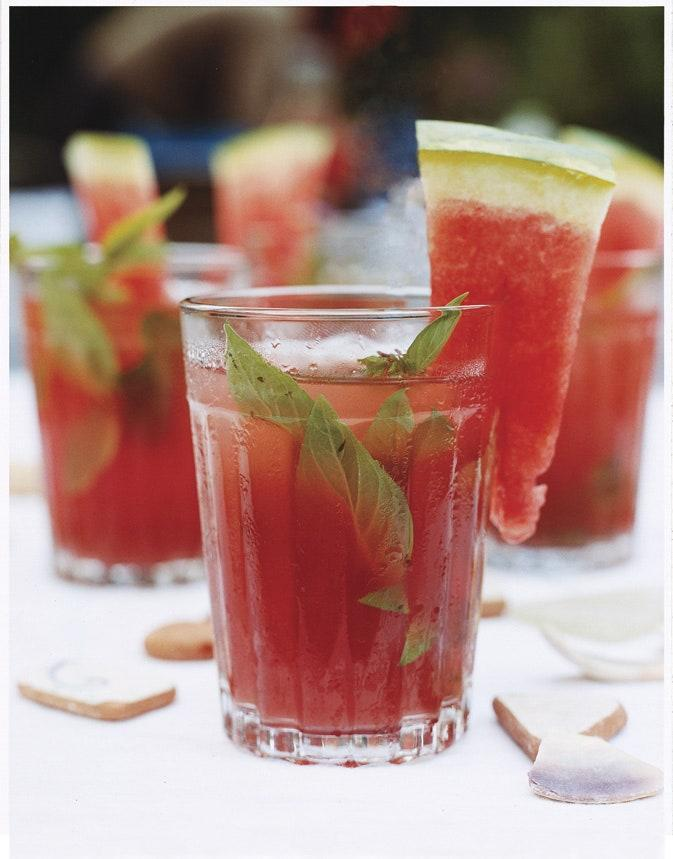 """When sweet watermelon is in season, it's an excellent match for rum and fresh mint. <a href=""""https://www.epicurious.com/recipes/food/views/watermelon-rum-mash-242807?mbid=synd_yahoo_rss"""" rel=""""nofollow noopener"""" target=""""_blank"""" data-ylk=""""slk:See recipe."""" class=""""link rapid-noclick-resp"""">See recipe.</a>"""
