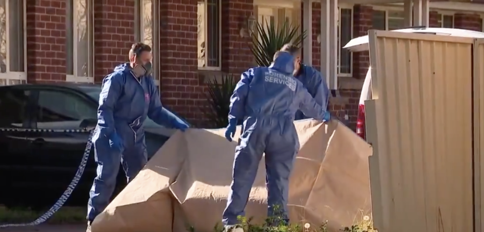 Police investigate after a 20-year-old woman was found dead. source: 7 News