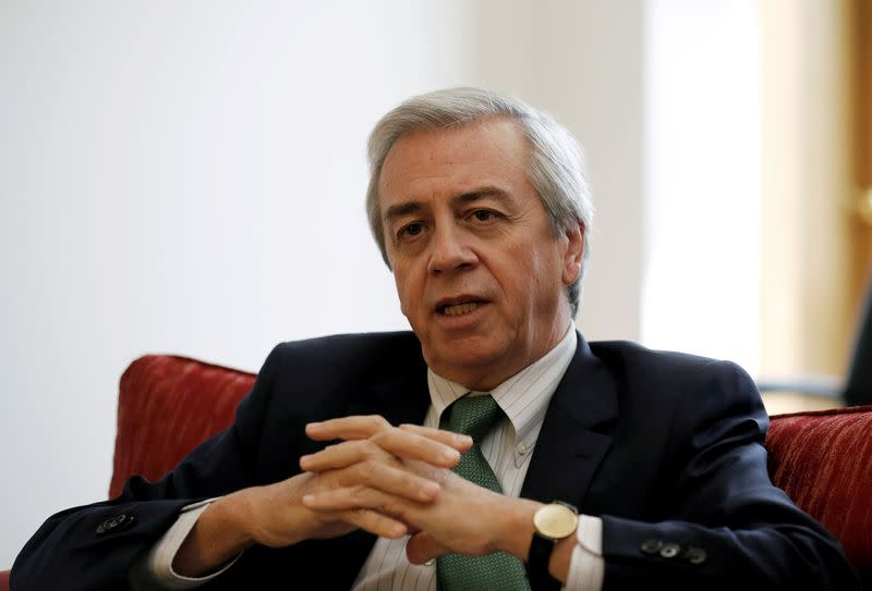 FILE PHOTO: Chairman of Codelco, Juan Benavides speaks during an interview with Reuters in Santiago