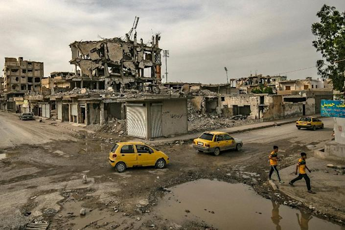 The jihadists' former de facto Syrian capital of Raqa was devastated during the battle to oust IS (AFP Photo/Delil souleiman)