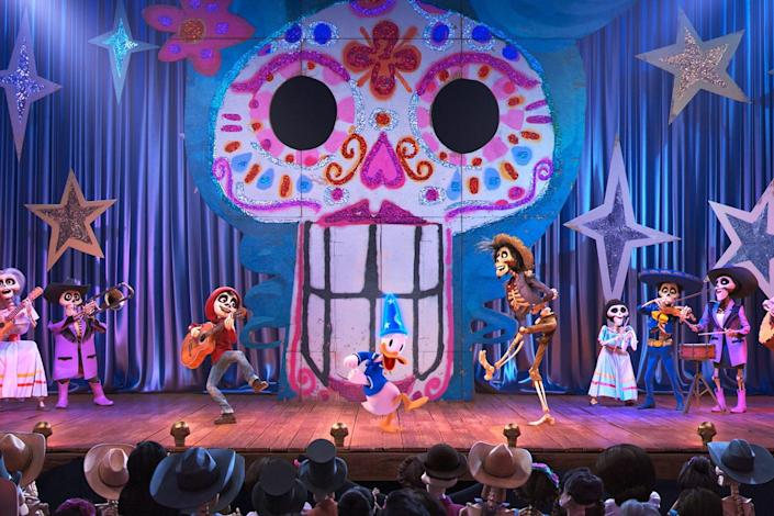 """A view of the """"Coco"""" scene that will soon be added to Mickey's PhilharMagic."""