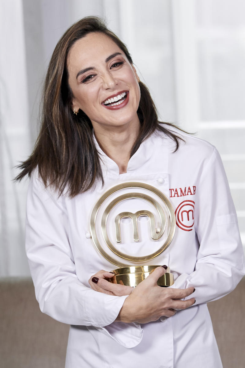 MADRID, SPAIN - NOVEMBER 28: Tamara Falco, the winner of TV's MasterChef Celebrity 2019, poses for a photo session at Hotel Eurobuilding on November 28, 2019 in Madrid, Spain. (Photo by Carlos R. Alvarez/WireImage)