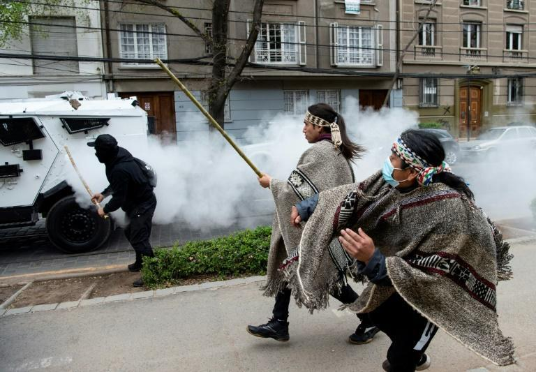 The Chilean state has long been accused of discrimination against the Mapuche people (AFP/Martin BERNETTI)