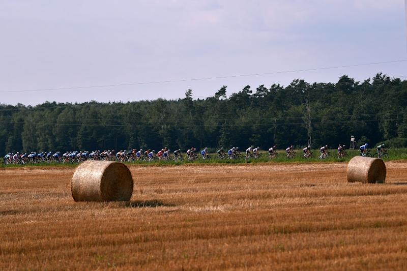The countryside on stage 2 from stage from Opole to Zabrze