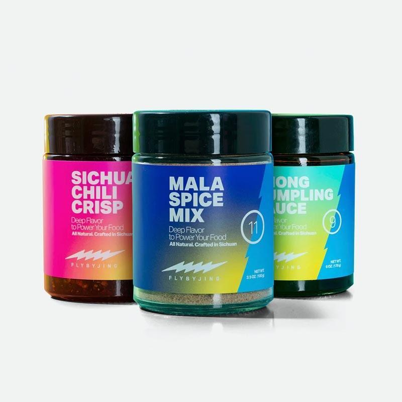 "The bold eater can amp up the flavor with this trio of game-changing ingredients from Fly by Jing, including Sichuan chili crisp, sweet and savory dumpling sauce, and a punchy spice mix. $42, Huckberry. <a href=""https://huckberry.com/store/fly-by-jing/category/p/65382-the-triple-threat"" rel=""nofollow noopener"" target=""_blank"" data-ylk=""slk:Get it now!"" class=""link rapid-noclick-resp"">Get it now!</a>"