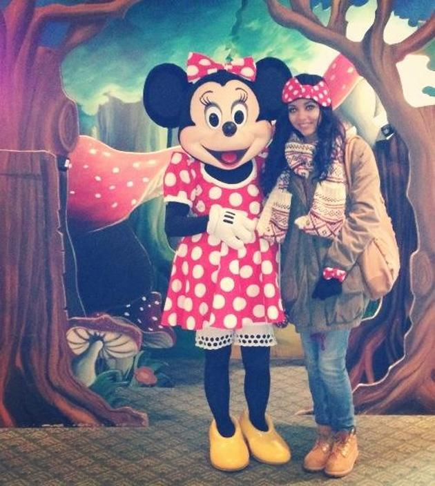 Celebrity Twitpics: Little Mix's Jade Thirlwall had a romantic break with her boyfriend over Christmas and New Year, with the pair heading to Disneyland Paris. She even met her 'idol' Minnie Mouse! Copyright [Jade Thirlwall]