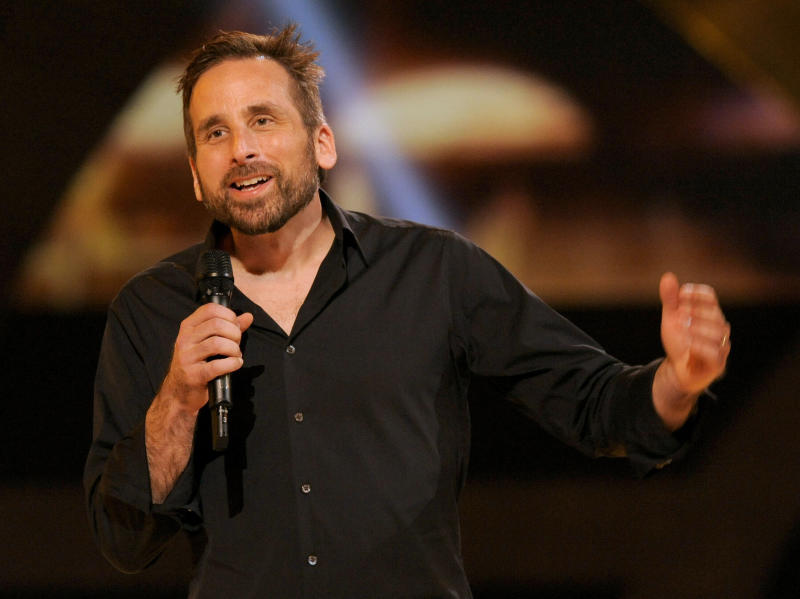 """FILE - In this Dec. 7, 2012 file photo, Ken Levine, creative director and co-founder of Irrational Games, presents the world premiere of """"Bioshock"""" on stage at Spike's 10th Annual Video Game Awards at Sony Studios in Culver City, Calif. Levine is writing a script for Warner Bros. based on the campy sci-fi tale """"Logan's Run."""" (Photo by Chris Pizzello/Invision/AP)"""