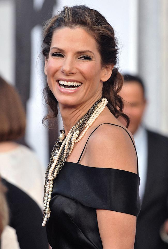 """<a href=""""http://movies.yahoo.com/movie/contributor/1800018970"""">Sandra Bullock</a> at the Los Angeles premiere of <a href=""""http://movies.yahoo.com/movie/1810012112/info"""">The Proposal</a> - 06/01/2009"""