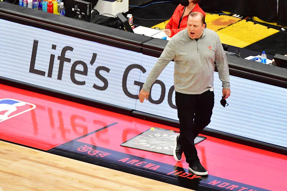 Tom Thibodeau has the New York Knicks playing inspired basketball. (Julio Aguilar/Getty Images)