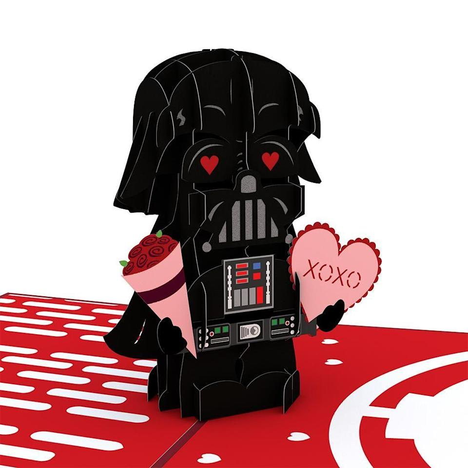 """<p><strong>Star Wars</strong></p><p>lovepopcards.com</p><p><strong>$13.00</strong></p><p><a href=""""https://go.redirectingat.com?id=74968X1596630&url=https%3A%2F%2Fwww.lovepopcards.com%2Fproducts%2Fstar-wars-darth-vader-valentine-pop-up-card&sref=https%3A%2F%2Fwww.countryliving.com%2Flife%2Fentertainment%2Fg34619711%2Ffunny-valentines-day-cards%2F"""" rel=""""nofollow noopener"""" target=""""_blank"""" data-ylk=""""slk:Shop Now"""" class=""""link rapid-noclick-resp"""">Shop Now</a></p><p>Luke I am your....Valentine? That's not how we remember the movie! Here's the perfect pick for the <em>Star Wars </em>lover in your life. </p>"""