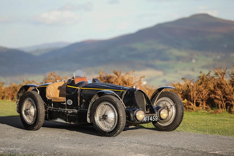 """The historic King Leopold 1934 Bugatti Type 59S could fetch more than $12 million dollars when it goes up for sale at Gooding & Company's """"Passion of a Lifetime"""" London auction April 1."""