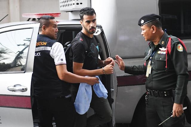 Hakeem al-Araibi claims he is being targeted by Bahrain over his criticism of AFC president Sheikh Salman bin Ebrahim Al Khalifa, a member of the ruling family (AFP Photo/Lillian SUWANRUMPHA)