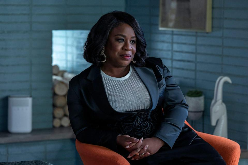 "Uzo Aduba as Dr. Brooke Taylor on HBO's fourth season of ""In Treatment."""