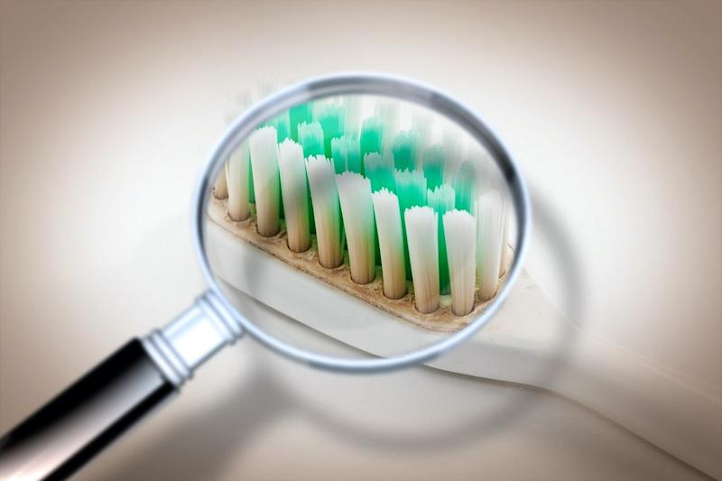 Old dirty and unhygienic toothbrush