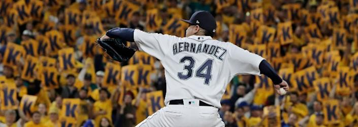 Seattle Mariners right-hander Felix Hernandez.