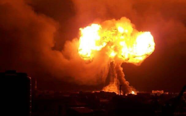 The gas explosion near Legon in Ghana - Twitter