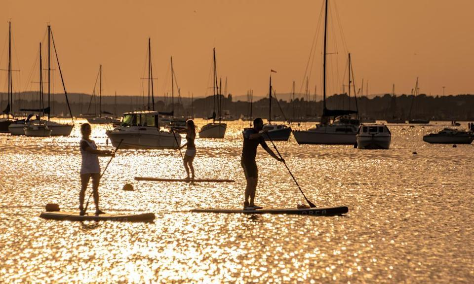 Paddleboarders in Poole Harbour