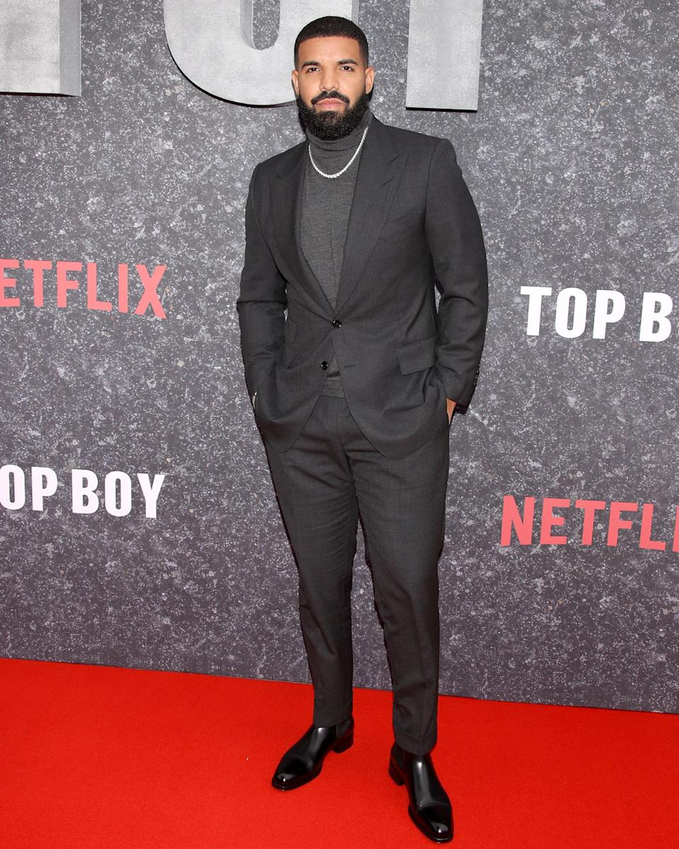 """<h1 class=""""title"""">September 4: Drake</h1> <div class=""""caption""""> Drake hits the Top Boy premiere dressed as—what else?—the top boy. </div> <cite class=""""credit"""">Getty Images</cite>"""