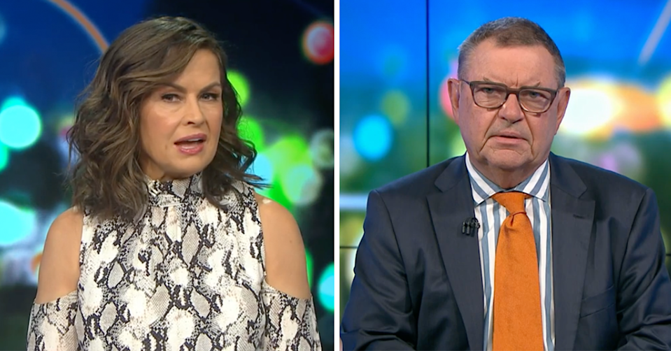 Lisa Wilkinson and Steve Price on The Project.
