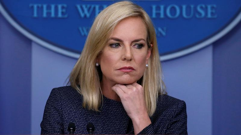 Protesters Outside Kirstjen Nielsen's House Play Audio Of Detained Migrant Children