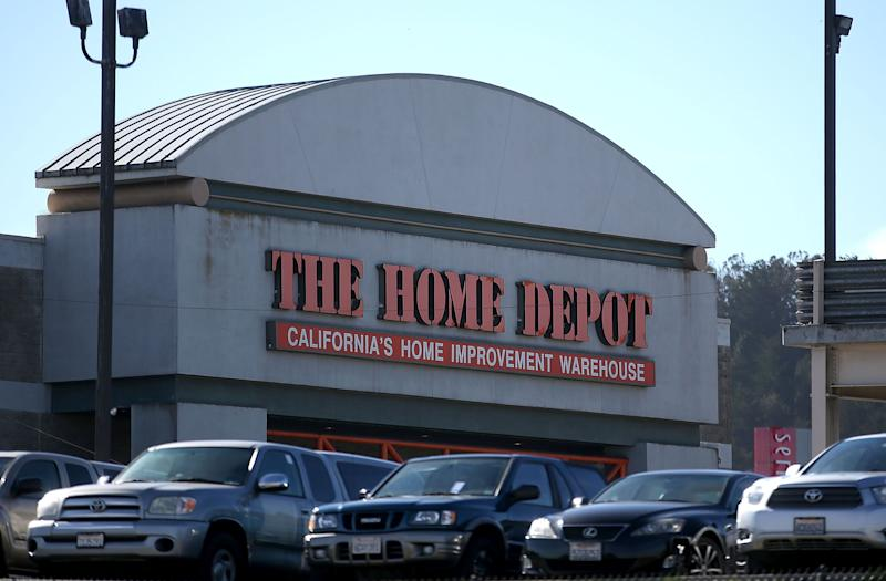 COLMA, CA - NOVEMBER 17: A view of a Home Depot store on November 17, 2015 in Colma, California. Home Depot reported a 12.2 percent rise in third quarter earnings with a profit of $1.73 billion, or $1.35 a share, compared to$1.54 billion, or $1.15 a share, one year ago. (Photo by Justin Sullivan/Getty Images)