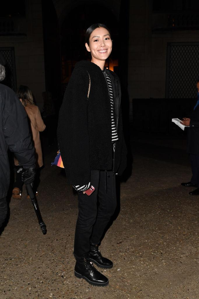 Liu Wen is seen arriving at Valentino fashion show during Paris Fashion Week Haute Couture Spring Summer 2020 on January 23, 2019 in Paris, France. (Photo by Jacopo Raule/Getty Images)