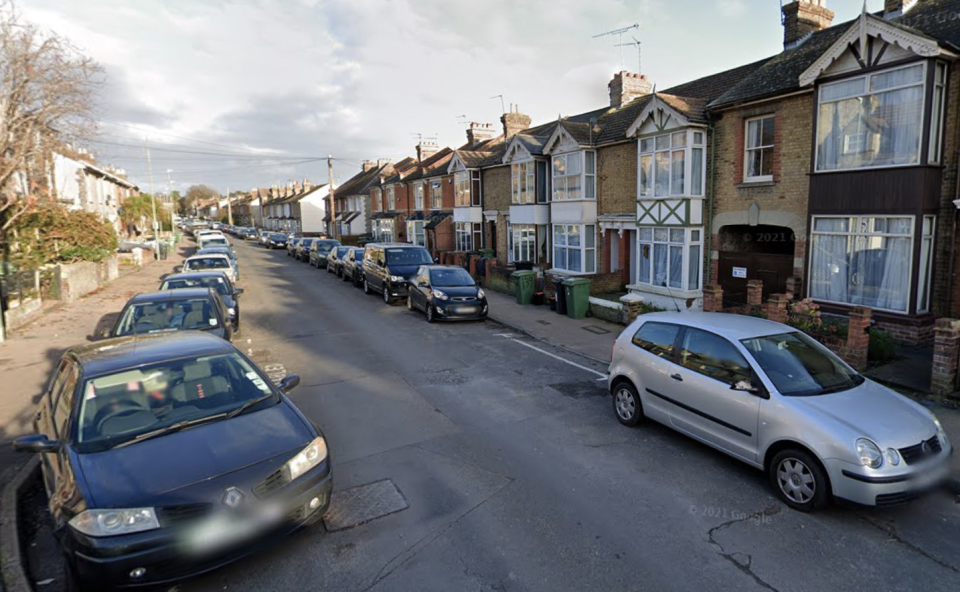Milton Street, where Mr Pack was allegedly hit by a car. Source: GoogleMaps