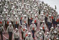 <p>All-American retailer Levi Strauss brought Team USA back to its Western roots for the 1980 games, designing oversized cowboy hats, shearling jackets, and thick gloves for the athletes. </p>