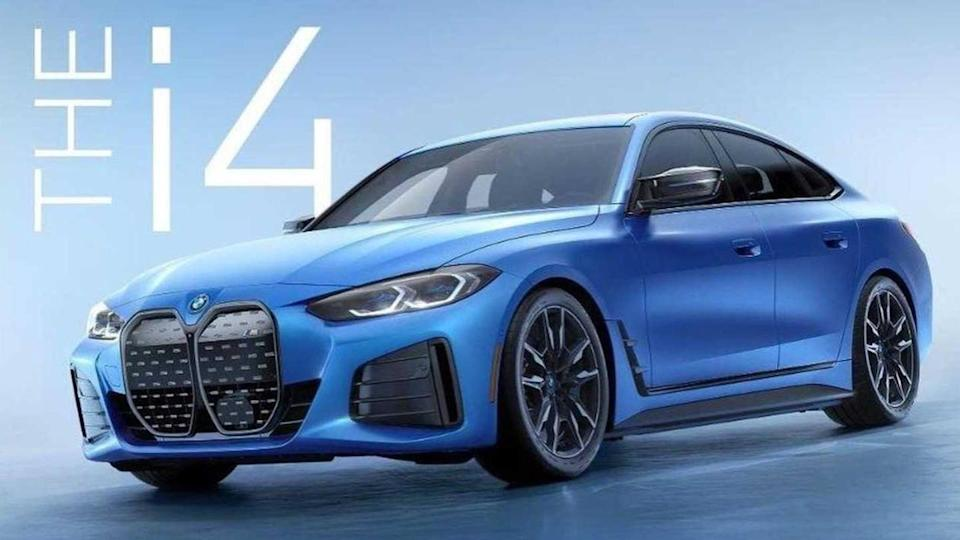 BMW i4 M50 electric sedan previewed in a leaked image
