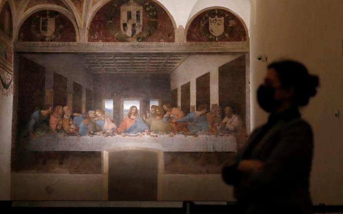'The Last Supper' has reopened to the public as Italy gradually eases its coronavirus rules - Antonio Calanni/AP Photo